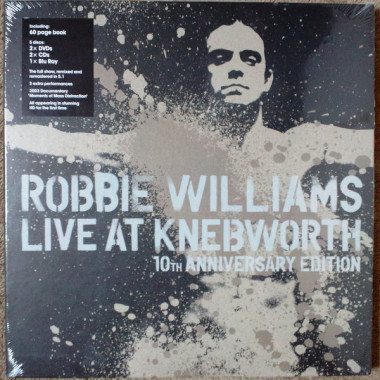 Williams Robbie • Live At Knebworth / Box Deluxe (2DVD+2CD+BD+Kniha)